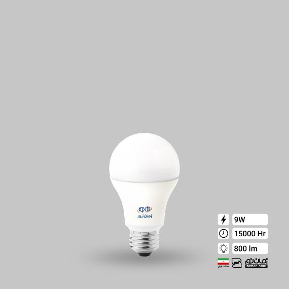 لامپ ال ای دی حبابی 9 وات زمان نور