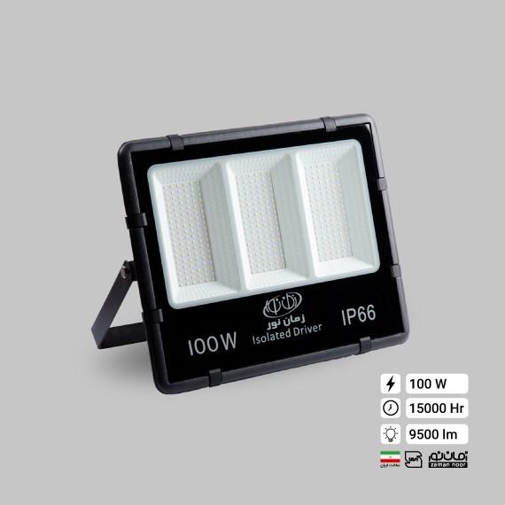 پرژکتور ال ای دی 100 وات زمان نور